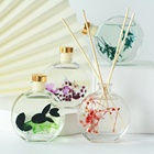 Wholesale private label natural home fragrance flower reed diffuser set 100ML