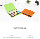 High Quality Promotional Gift PU leather Cover Sticky Note Memo Pad Manager Case
