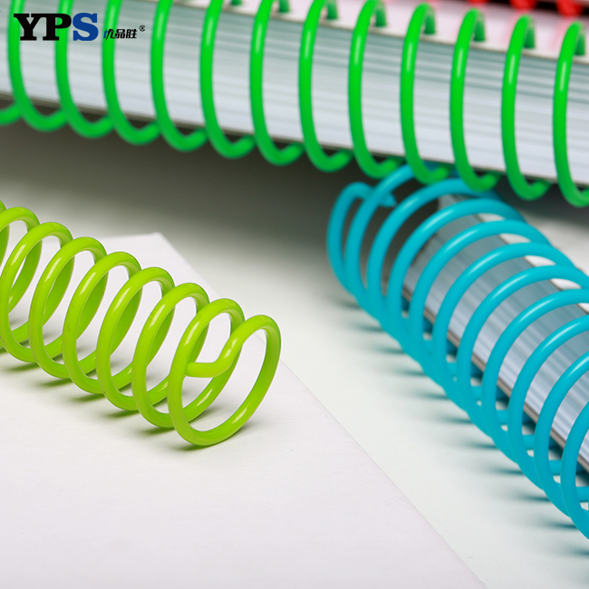 High Quality A4 A5 Size Plastic Material Binding Supplies PVC Spiral Coil Binding