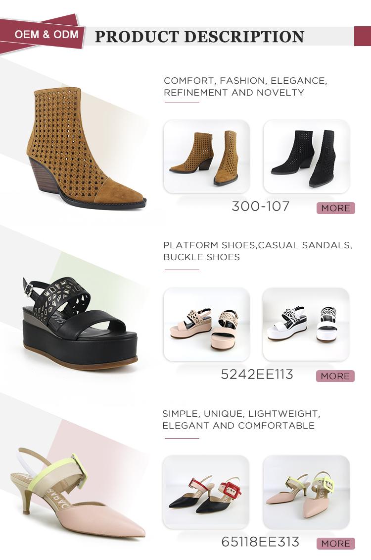 Sandalias de tacón alto de plataforma al por mayor modernas para mujer