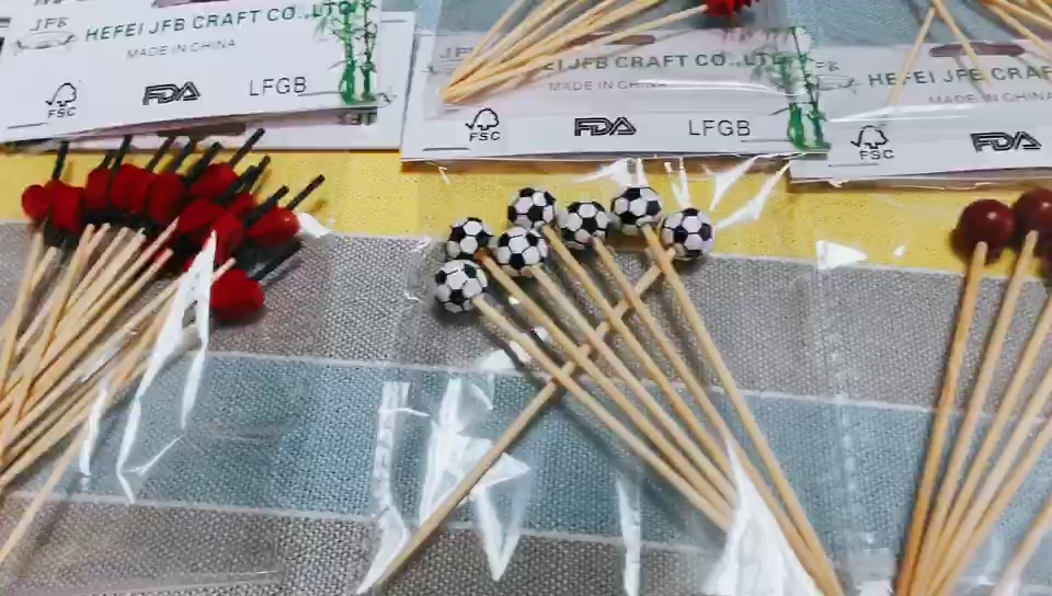 Personalisierte cocktail sticks branded bambus einweg