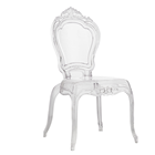 Acrylic Transparent Dining Room Chairs in
