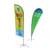 New products Custom Sports Event 100% polyester Beach Flag