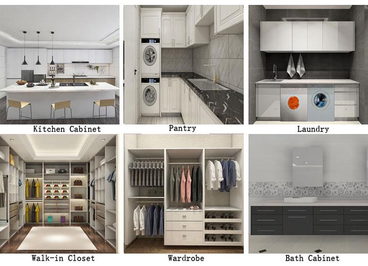 Hiện Đại Walk-In Closet Cá Nhân Cloakroom Tùy Melamine Tủ Quần Áo Mà Không Có Cửa Ra Vào
