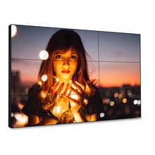 55 Inch 3.5 Mm Super Narrow Bezel LCD <span class=keywords><strong>Video</strong></span> Dinding untuk <span class=keywords><strong>Ruang</strong></span> Rapat