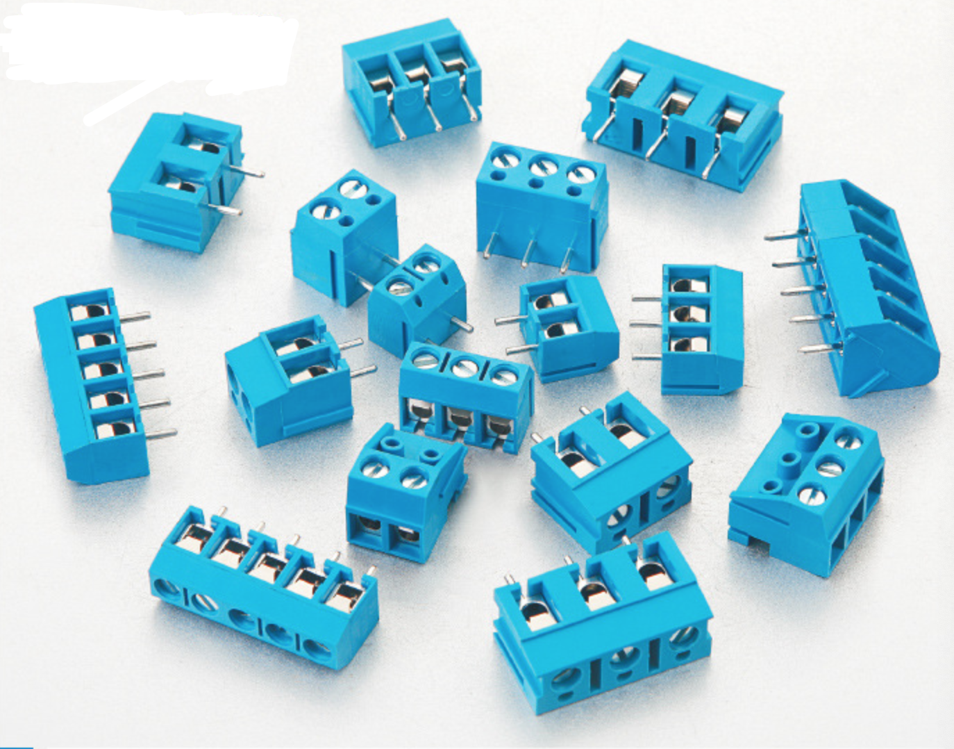 PCB Terminal Block Connector Male Female Straight Angle Pin Factory Price Spring loaded Screw Type Connector Green Blue Color
