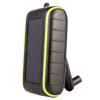 10000mAh Solar Power Bank with Led Light Solar Universal Hand Crank Mobile Charger