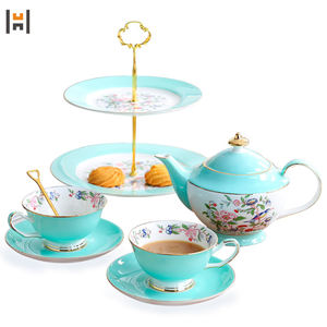 2020 afternoon ceramic tea cup and saucer set coffee set with cake plate set