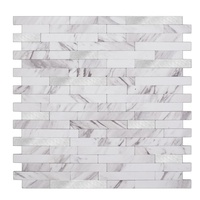 Subway MosaicTile Aluminum Tiles Peel And Stick Wall Tile Aluminum Mosaic