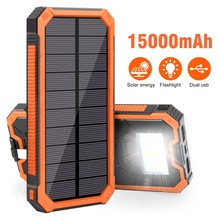 Ultra-High-Kapasitas Solar Power Bank Supply 15000 MAh Ponsel Surya Pengisian Harta Karun