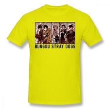 Мужская футболка с короткими рукавами, с рисунком бродячих собак, из хлопка(Китай)