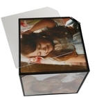 No Photo Hot Selling Good Quality No Lights Nostalgia Cube Rotating Frame Photo