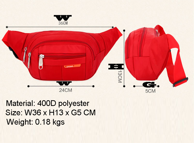 Hiking Waist Packs Waterproof Bum Bag Wholesales Lightweight Sports Fanny Packs Multiple Pockets Outdoor Waist Bag
