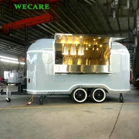 Wecare One Stop Airstream Catering Trailer Mobile Food Cart for Sale