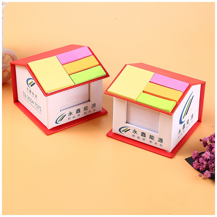Helling memo pad sticky notes, huis memo, huis vorm sticky