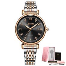 LIGE бренд SUNKTA Новый Для женщин часы Бизнес кварцевые часы дамы Топ Роскошные Брендовые женские наручные часы для девочек часы Relogio Feminin(Китай)