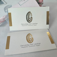 Custom Logo Gold Silver Foil Hot Stamping Clothes Price Paper Swing Tags