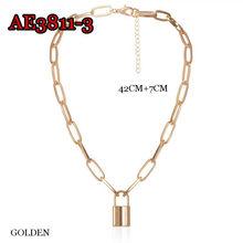 Бесплатная доставка, популярное ожерелье с замком, для мужчин и женщин, короткая цепочка, модные украшения, звезда, чокер, подвески для женщи...(Китай)