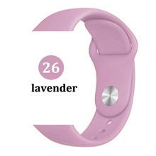 Ремешок для часов Apple watch, 44 мм, 40 мм, 42 мм, 38 мм, correa iwatch 5, 4, 3, 2, спортивный силиконовый браслет, pulseira, Apple watch 4, аксессуары(Китай)