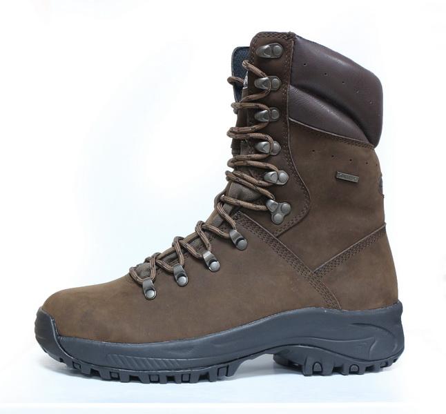 10 นิ้วสีน้ำตาลเข้ม 100% Full nubuck หนังสวมใส่ฤดูหนาวหุ้มฉนวนการล่าสัตว์ผู้ชายรองเท้าเดินป่ากลางแจ้งรองเท้า