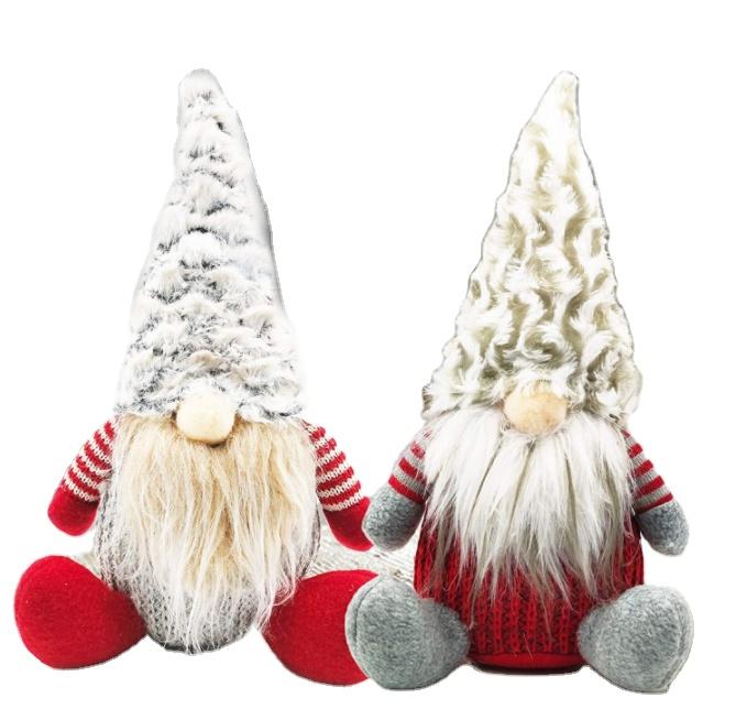 Christmas handmade Swedish dwarf plush. Handmade Swedish Dwarf Plush Santa Dwarf Doll