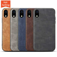 high quality brown leather wallet phone case back cover for iphone xr