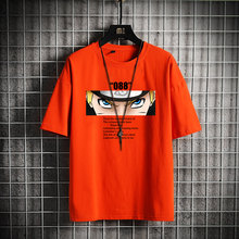 "SingleRoad Мужская футболка для мужчин 2020 летний топ аниме оверсайз одежда ""Наруто"" Японская уличная одежда Harajuku футболка мужская футболка(Китай)"
