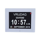 Clock Day Clock 8inch Memory Loss Alzheimers Dementia Patients Large Non-Abbreviated Day Week Month Day Clock Calendar In Arabic
