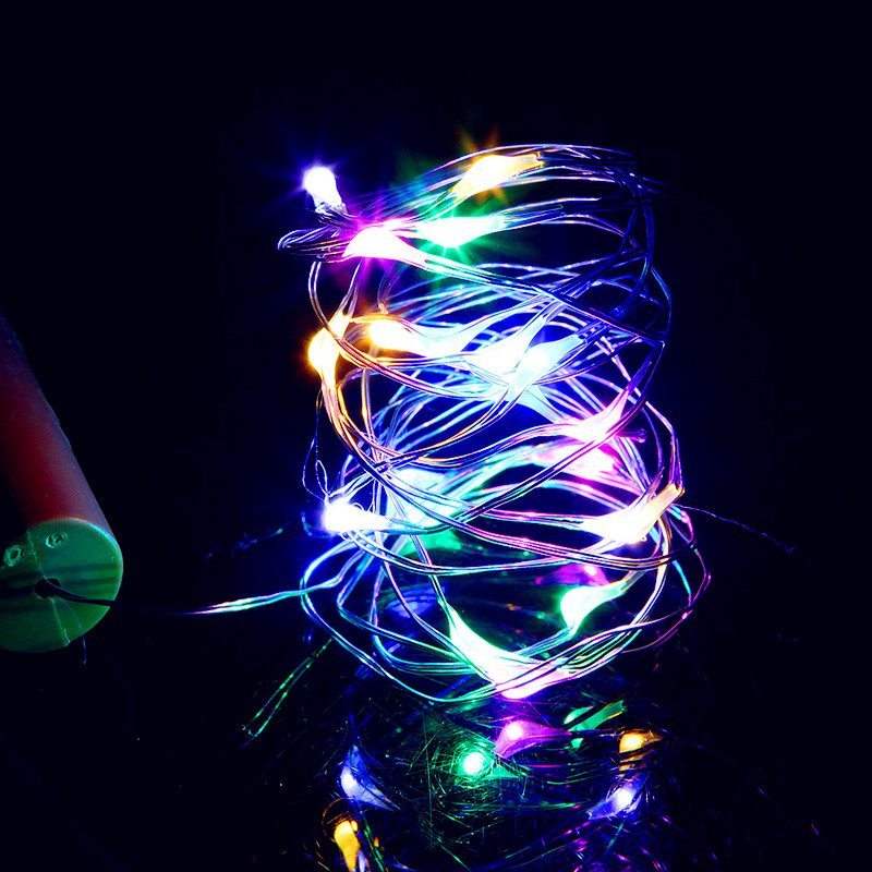 Beer Bottle String Light with Cork Shaped 1M 10LED Copper Silver String Lamp For Christmas