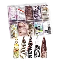 2019 factory Newspaper transfer foil Nail foil for nail art sticker for the nail art decoration NO.29