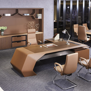 Louis CEO Boss director office desk H-02 big size executive desk luxury office furniture table with wood veneer