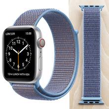 Высококачественный нейлоновый спортивный ремешок для Apple Watch Series 5 4 3 2 1, мягкий дышащий тканый ремешок 44 мм iwatch 38 мм 40 мм(Китай)