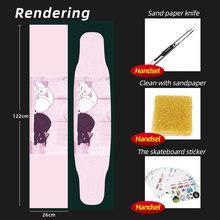 ARDEA Лонгборд песок бумага скейтборд 122*26 см скутер палуба Griptape абразивная бумага Электрический двойной рокер скейт доска сцепление лента(Китай)