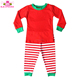 Wholesale Monogram Blank Children's Clothing Sets Kids Girls Christmas Red White Stripe Pajamas