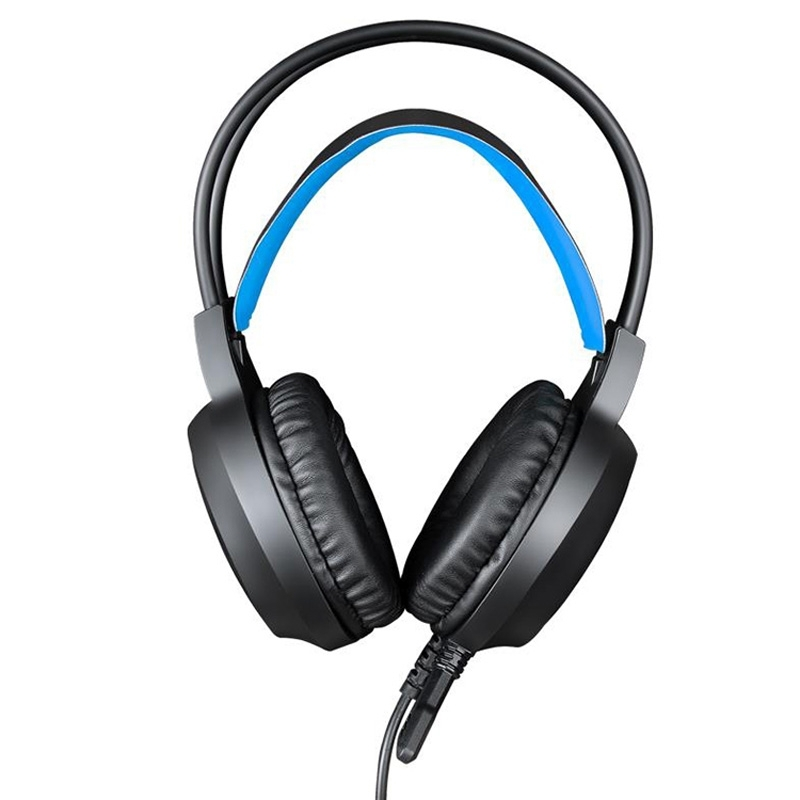HAMTOD <strong>V1000</strong> Dual-3.5mm Plug surround sound Gaming headphones (Blue)