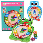 Early Education Clock Cognitive Toys wooden toys educational