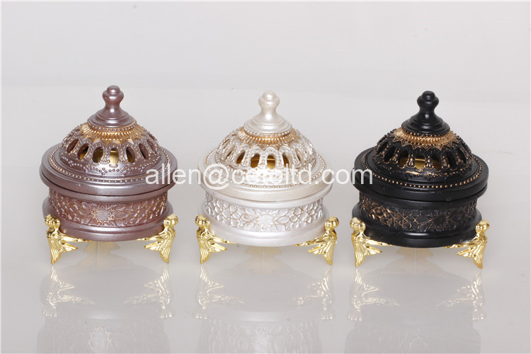 Wholesale High Quality Arab New Resin Incense Burner Censer Arabic Mubkhar Incense Burner