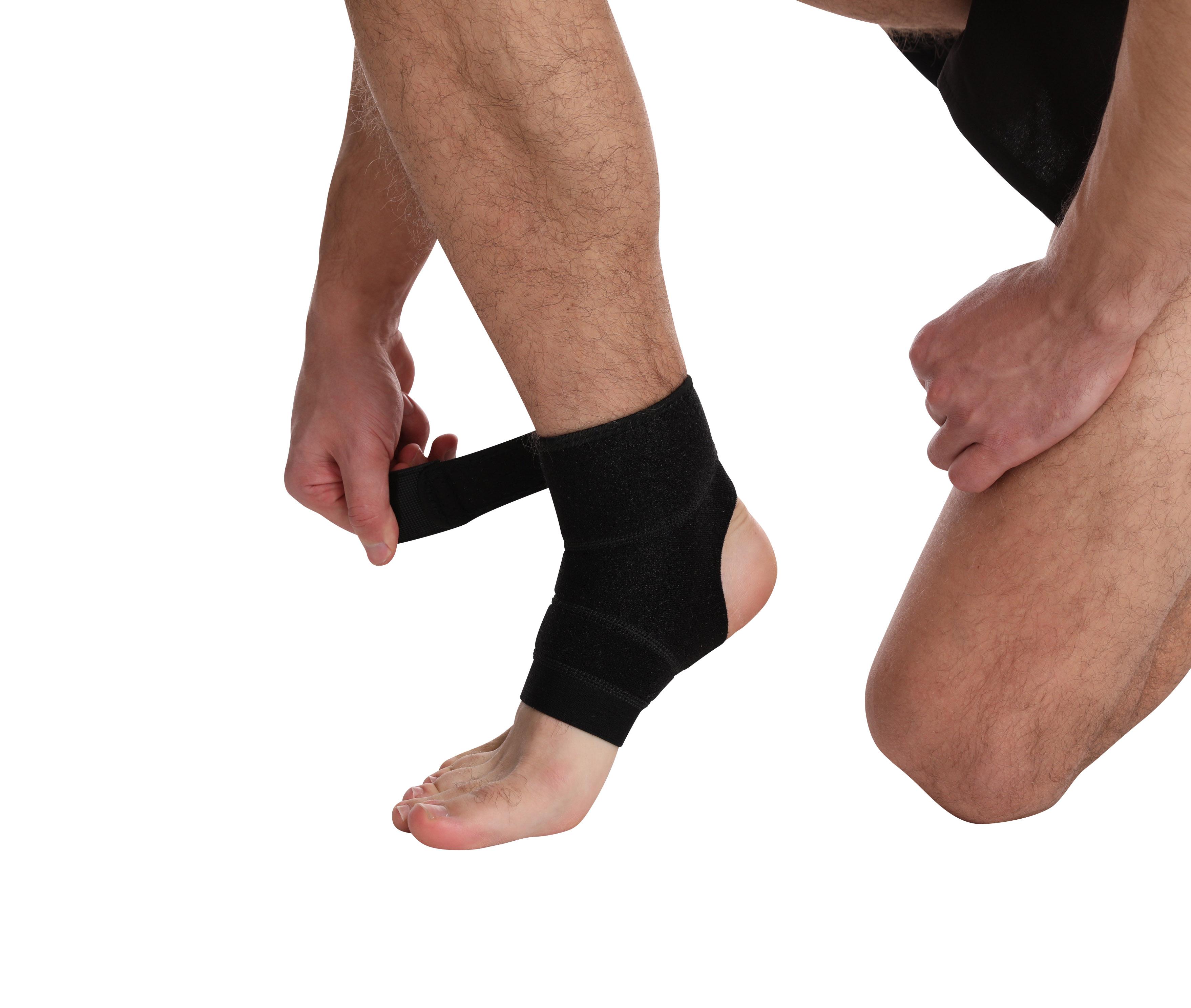 Компрессионная ткань для тренажерного зала, эластичная поддержка лодыжки, бандаж, защищает от травм, восстановление, ремешки на лодыжке, компрессионный рукав