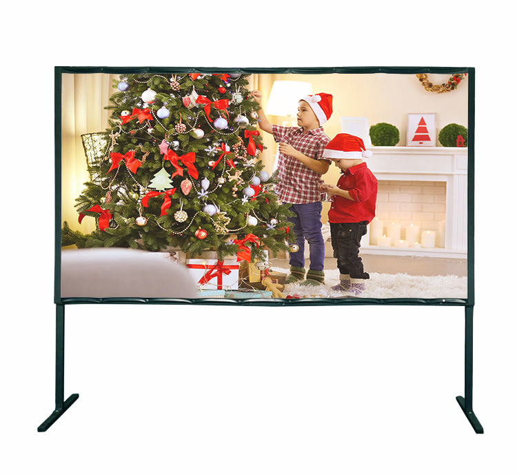 Future Screen  72 Inch Video Format 4:3 Multifunction Potable Fast Fold Front & Rear Projection Screen