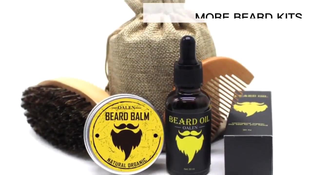 New Arrival 6 Mặt Hàng Bộ Râu Bàn Chải Dầu Balm Comb Beard Grooming Kit Cho Nam Giới