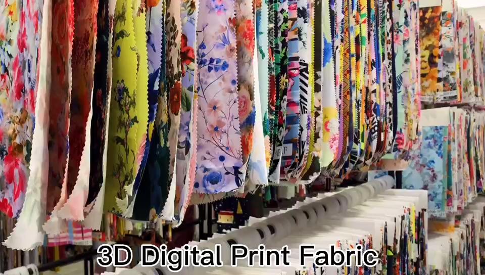 Kahn Lycra Floral Design Impresso Tecido Spandex do Estiramento De Malha De Algodão Orgânico