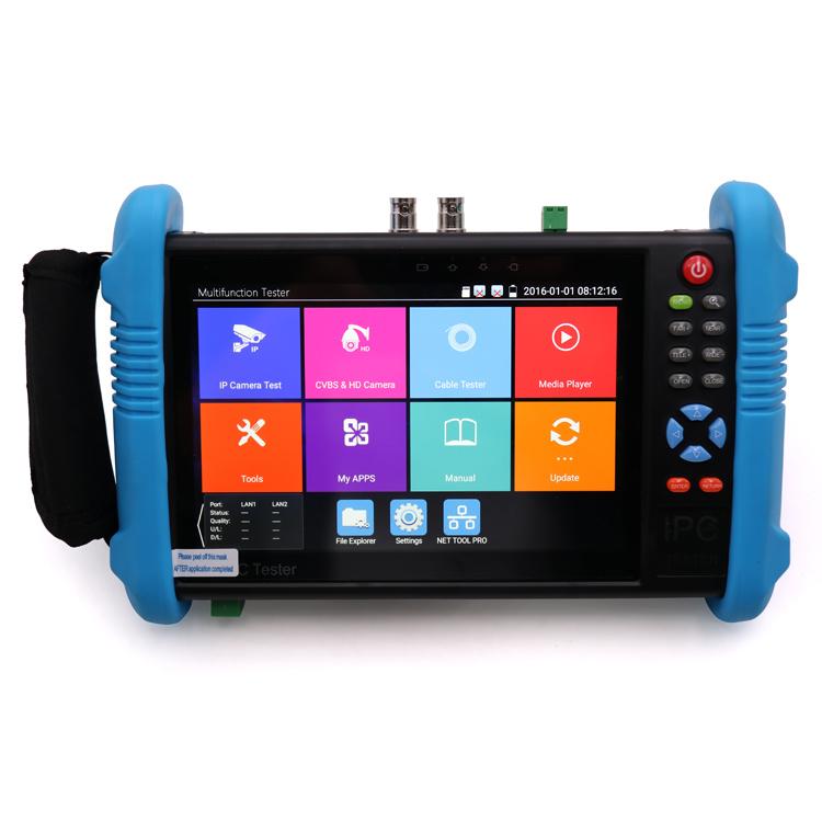 1920*1200 resolution HD CCTV Tester IPC 9800 Plus basic model support 4K H.265 IP+ CVBS test+H DMI output