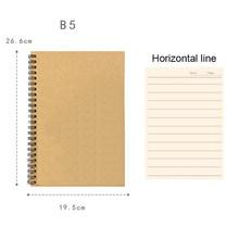 A5 B5 спираль Тетрадь журнал Рисование ноутбука ежедневно еженедельник тетрадь для записей сетки чистые линии Бумага бизнес планирования шк...(Китай)