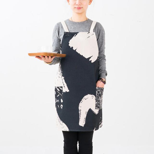 Neue mode frauen männer einstellbare baumwolle leinen schürze haushalt schürze für kochen backen