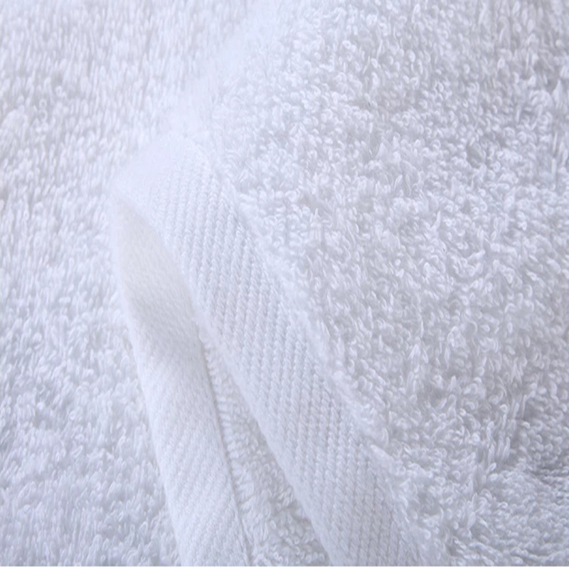 100% Cotton Hotel Embroidered Hand Towel Hotel White Bath Towels