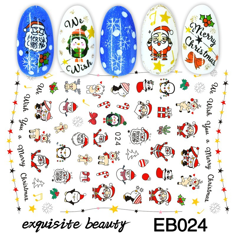 Christmas Nail Art Stickers - DIY Nail Decals for Women Girls Kids Manicure Winter Snowflake  Nail Art Tips Decoration