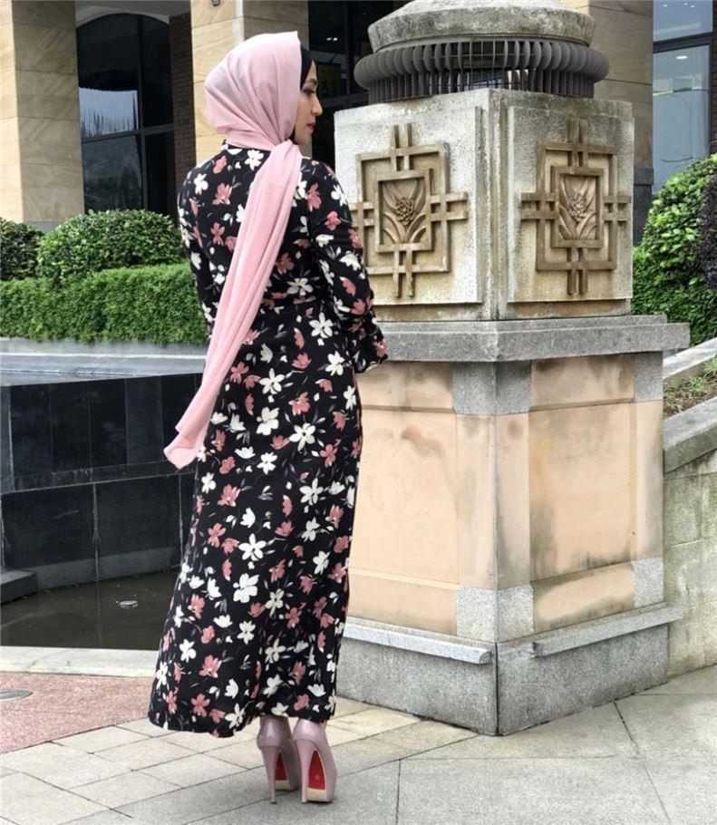 2020 Lebaran Islam Kimono Abaya Hitam Wanita Panjang dengan Renda dan Batwing Lengan Depan Terbuka Manik-manik Model Baru Di Dubai abaya Kimono