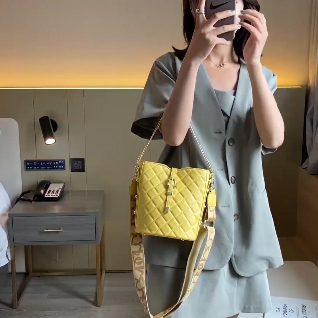 STABILE moda eşkenar dörtgen geometrik desen kadın el çantası avrupa tarzı Crossbody çanta