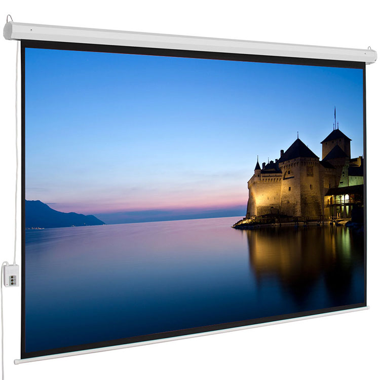 2019 Best Popular Motorized Electric Auto High Contrast Projection Screen, 92-Inch, 16:9 Display