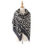New Arrival Women's Leopard Print Blanket Square Wrap Scarf